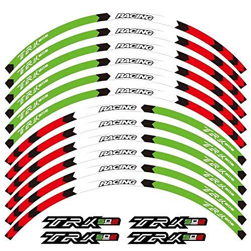 12 PCS Ajuste de la Rueda Motocicleta Pegatina Pegatina Raya Reflectante para Benelli TRK 502 Completo Cinta (Color : 4)