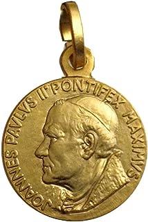"Medaglietta Santo Papa Giovanni Paolo II-Argento 925 Placcata oro - 925 Sterling Silver"" St.Pope John Paul II"" Medal"