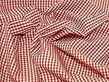 1, 2 m, Rot 1-10.16 cm, Polybaumwolle, gewebt, kariert