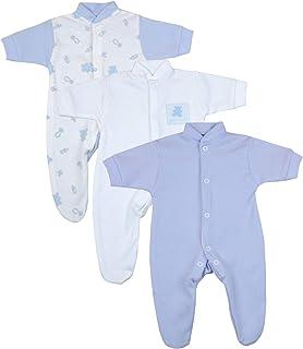 Babyprem Frühchen Baby Jungen Kleidung Packung mit 3 Schlafanzüge Strampler
