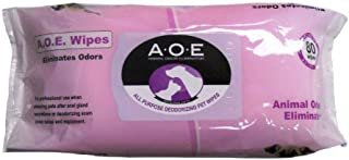 AOE All Purpose Deodorizing Pet Wipes - 80 count