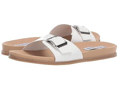 Steve Madden Kerri Flat Sandal (White) Women