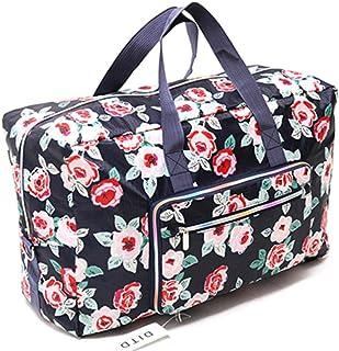 Foldable Travel Bag Women Large Capacity Portable Shoulder Duffle Bag Cartoon Printing Waterproof Weekend Luggage Tote