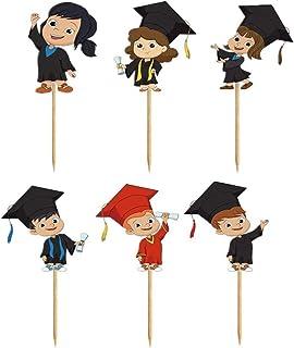 BinaryABC 2021 Graduation Cake Toppers Congrats Grad Cupcake Picks Cake Decoration Party Supplies,Graduation Party Favors,...