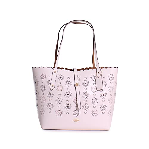 dd7ca5cabb7 COACH Womens Market Tote with Cut Out Tea Rose