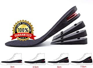 GULIQ Height Increase Insole,Insole Lift Kit,4-Layer 3CM-7.5CM Orthoric Heel Shose lift Kit Variable Height Adjustable with Air Cushion Elevator Insole Lift Insole for Men & Women(1 Pair)