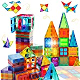 Magnetic Tiles Building Blocks STEM Magnet Blocks Toys for 3+ Year Old Boys and Girls,Educational Toy Gifts for Toddlers Kids Develop Children's Ability to Observe,Imagine,Practice.
