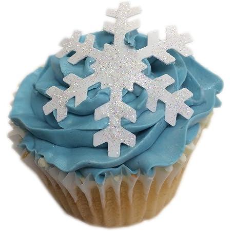 Comestibles Papier de Flocons de neige pour gâteau décoration Parfait Pour Noël ou surgelés...