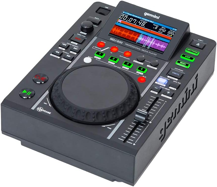Gemini Free shipping Long Beach Mall Sound MDJ-500 Professional Audio 4.3 Player DJ with Media