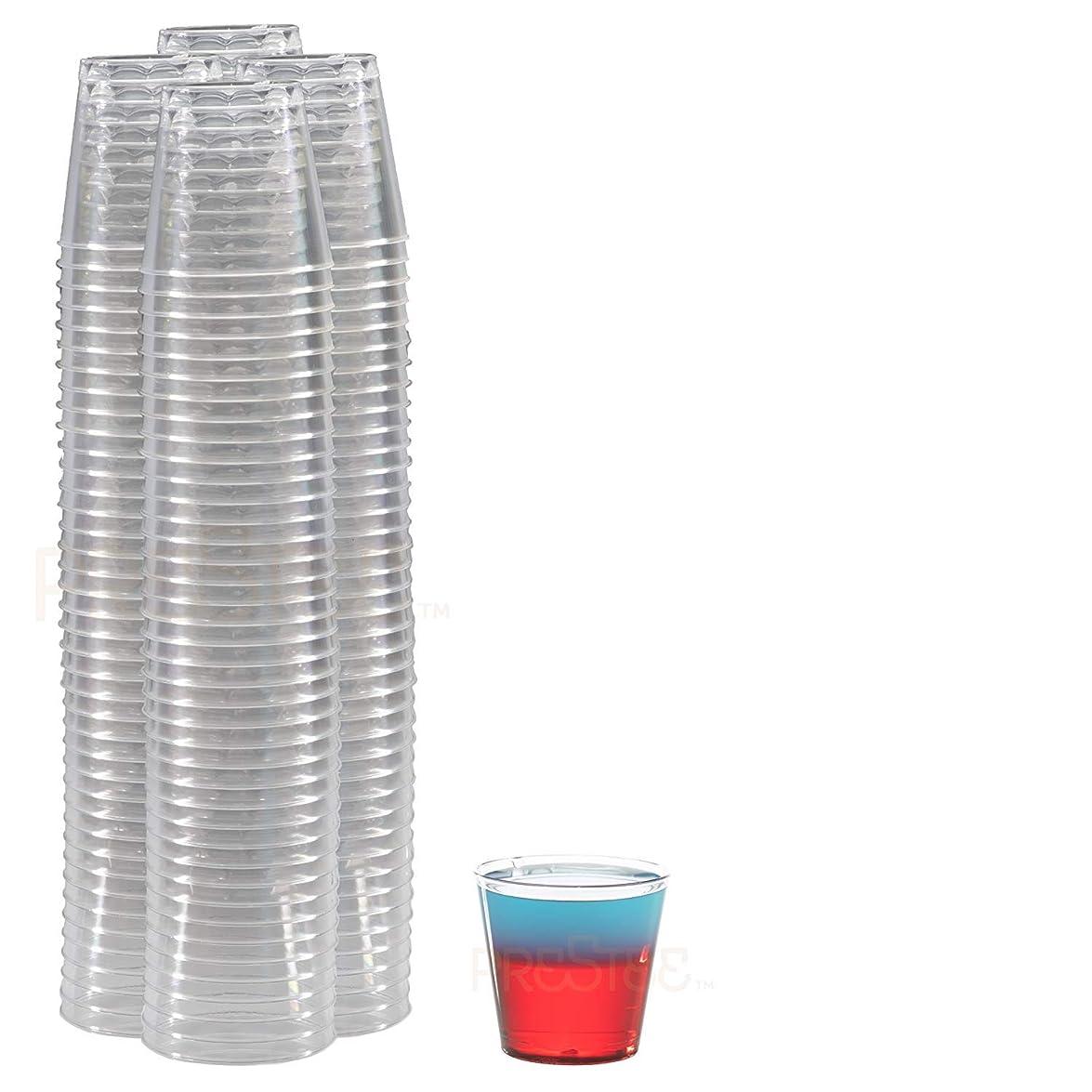 石炭肌未接続drinket Heavy Dutyクリスタルクリアメガネラウンドハードプラスチックカップ1オンスオールドファッションタンブラー100?Countバルクパック使い捨て/再利用可能な| Essentialワインシャンパンフルートカクテル、Everyday Drinking Cup