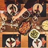 Platzsets aus Filz, 12er Set Tischsets und Untersetzer, 44x32 cm Abwaschbar und Hitzebeständigen Tischuntersetzer Platzdeckchen - 4
