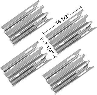 SHINESTAR Grill Replacement Parts for Vermont Castings CF9030, VM400, VM450, VM450SSP, Jenn-Air JA460 &More, 4-pack 14 1/2 inch Stainless Steel Heat Shield Plate Tent Burner Cover Flame Tamer-SS-HP001
