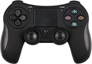 PS4 Controller, Wireless PS4 Controller Dualshock Bluetooth Game Controller for Playstation 4 (Black)