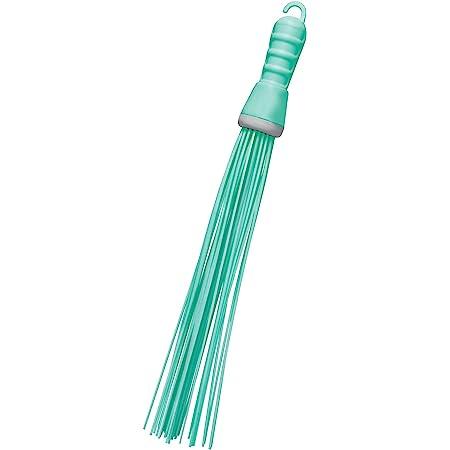 Spotzero by Milton Kharata Plastic Hard Bristle Broom (Aqual Green)