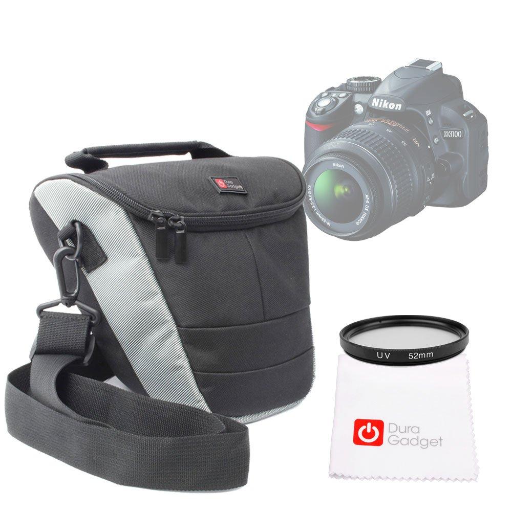 DURAGADGET Funda Protectora con Bandolera Ajustable para Cámara Nikon D3100 + Filtro UV 52 mm + Gamuza Limpiadora Precio Inmejorable: Amazon.es: Electrónica