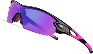 TOREGE Polarized Sports Sunglasses with 3 Interchangeable Lenses for Men Women Cycling Running Driving Fishing Golf Baseball Glasses TR02 Clock Stoppers Express