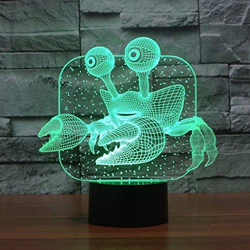 LIkaxyd Ilusión 3D Luz Nocturna Lámpara,7 Colores Cambio De Botón Táctil Y Cable Usb, Regalo De Navidad Para Niño[Clase De Eficiencia Energética A +++]Lindo Unicornio