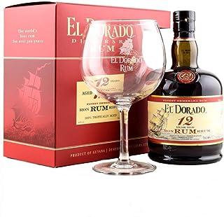El Dorado 12 Years Old mit Geschenkverpackung mit 1 Glas Rum 1 x 0.7 l