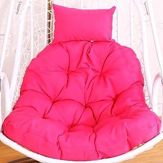 Chair cushion Cojines de Silla Colgantes de Hamaca de Huevo, Esponjoso sin Soporte extraíble Lavable Nido Grueso Almohada ergonomía Tinta de Patio