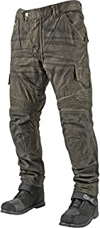 Speed and Strength Dog of War Men's Armored Moto Street Bike Motorcyle Pants - Green/Size 36X34