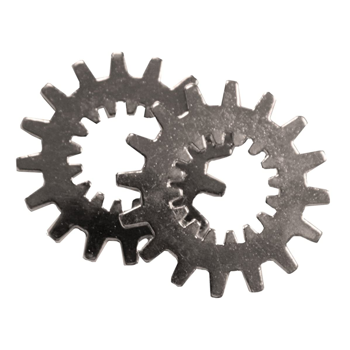 FabScraps Silver Embellishments, Small Cogs, 20-Pack