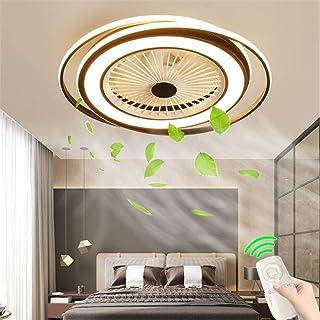 Ventilador De La Lámpara Del Techo Ultradelgada, LED Regulable Con Mando A Distancia, Velocidad Viento Regulable, Lámpara Moderna Invisible Ultra Habitación Tranquila Comedor Lámpara Luz Habitación