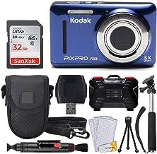 Kodak PIXPRO FZ53 16.15MP Digital Camera + 32GB Memory Card + Point and Shoot Camera Case + Extendable Monopod + Lens Clea...