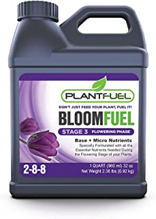 Plant Fuel Nutrients | BLOOM FUEL | Ultra-Premium Liquid Fertilizer for soil, hydroponics, and other grow mediums. Specially Formulated for the flowering stage of your plants. (Quart Size)