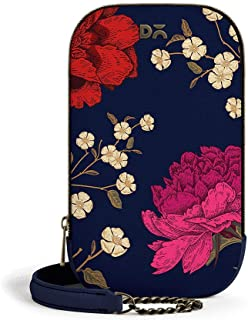 DailyObjects Midnight Chrysanthemums Tallboi Sling Crossbody Bag for girls and women | Vegan leather Mobile Phone Bag | St...