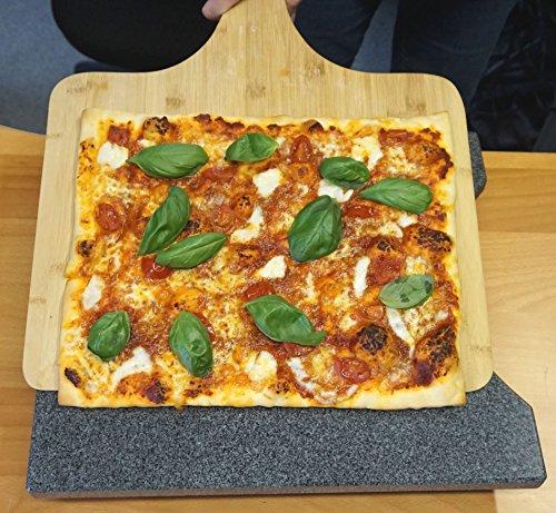 XXL Bambus Pizzaschieber - Pizzaschaufel für Familienpizzen und mehr (50x38cm)