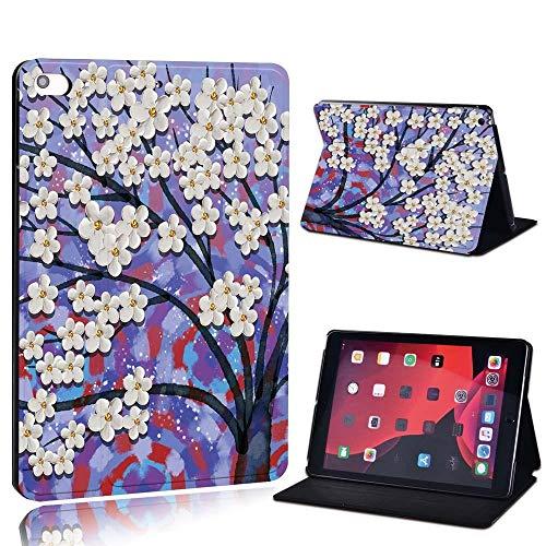 para iPad 2 3 4 5 6 7 / Air 1 2 3 / Pro 11 2018 2020 PU Cuero Tablet Sket Folio Cover Ultrathin Pinting Colors Slim Case (Color : Purpl, Size : Mini 4 5)