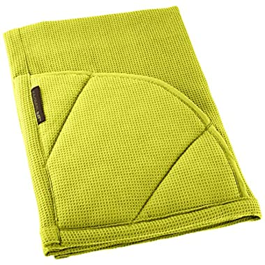 Rachael Ray Multifunctional 2-in-1 Moppine, Ultra Absorbent Kitchen Towel & Heat Resistant Pot Holder, Celery Green