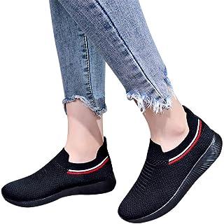 Zapatillas para Mujer,Mujeres al Aire Libre de Malla Zapatos de Deslizamiento Ocasional en Suelas cómodas Zapatillas Sneak...