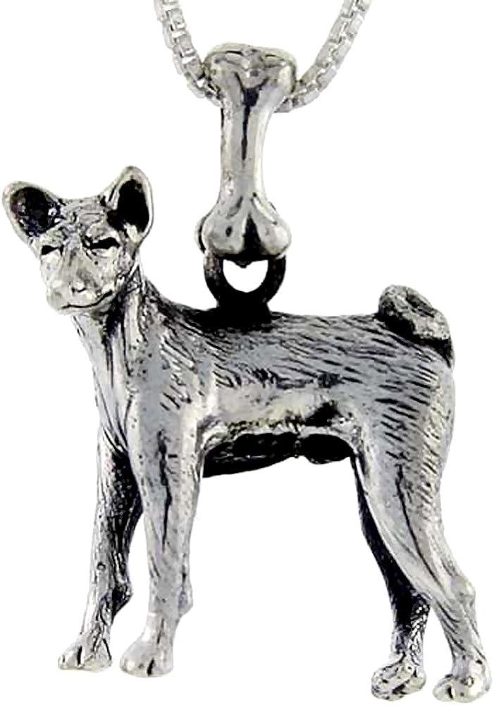 Max 81% OFF Sterling Silver Minneapolis Mall Basenji Dog Pendant