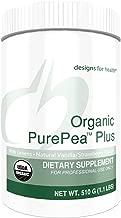 Designs for Health Organic PurePea Plus - Vanilla-Strawberry Pea Protein Powder with Greens, 18g Vegan Protein + Alkalizing Vegetables, Organic + Non-GMO (15 Servings / 510g)