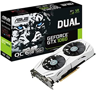 ASUS DUAL-GTX1060-O6G - Tarjeta gráfica (Dual, NVIDIA GeForce GTX 1060, 6 GB, GDDR5, HDMI, DVI, DP) Color Blanco
