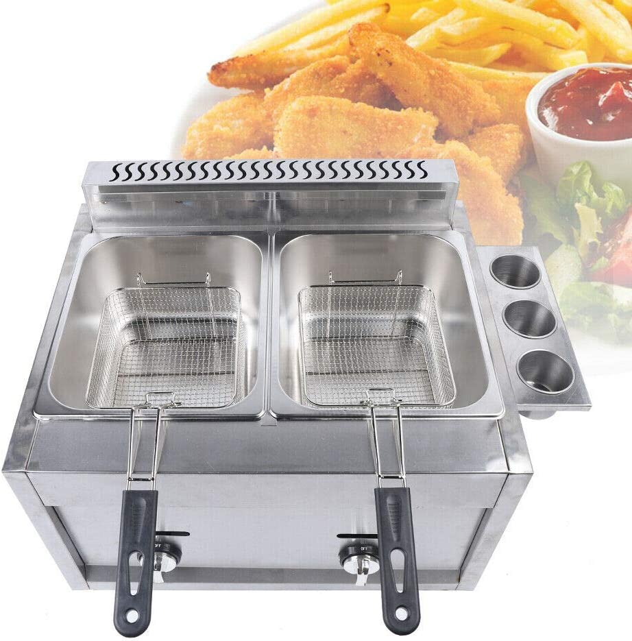 Ranking TOP13 Professional-style Deep Fryer Surprise price with Dual Commercial Baskets 12 L