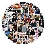 ZIWEI Calcomanías de etiqueta de la saga del crepúsculo de la película clásica Robert Pattinson para la guitarra portátil equipaje nevera graffiti pegatina 50 piezas