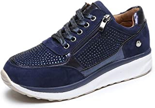 ORANDESIGNE Femme Casual Baskets Chaussures Outdoor Running Gym Fitness Sport Sneakers Mode Fermeture Eclair Running Multi...