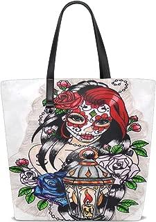 Dia De Los Muertos Tote Bag Purse Handbag Womens Gym Yoga Bags for Girls