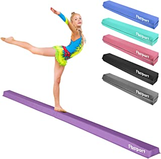 Gymnastics Beam for Training FC FUNCHEER 9FT Folding Floor Gymnastics Equipment for Kids Adults,Non Slip Rubber Base Physical Therapy and Professional Home Training with Carrying Bag