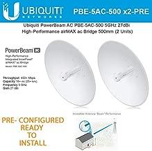 Ubiquiti PowerBeam PBE-5AC-500 2Units PRE-CONF 5GHz airMAX Bridge 25+km 450+Mbps