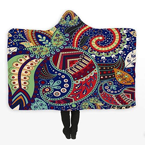 SKLLA Couverture Capuche Enfants Couverture Double Peluche 3D Motif de Fleurs,1,150cm*200cm
