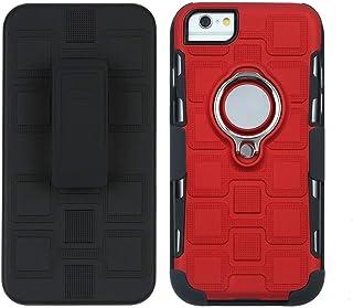 Liyuzhu のためにiphone 7ケースiphone 8多機能cas 3イン1 360度ハイブリッド装甲スマートフォン保護カバー付きiphone 7/8用 (Color : Red)