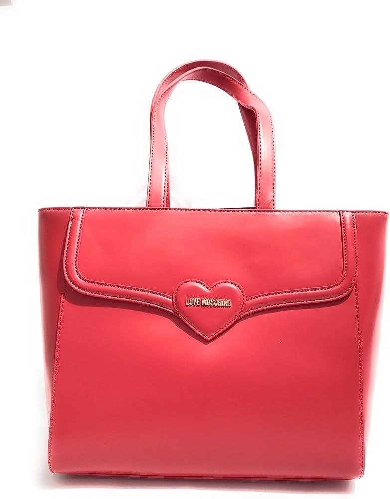 Trussardi jeans, shopper md vernice,borsa da donna effetto vernice manici piatti con anelli metallici 75B009619Y099998