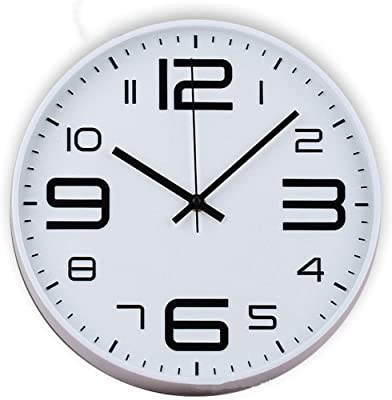 SeSDY Simple Wall Clock European Fashion Creative Home Mute Clock Garden Wall Clock Sweeping Round Wall