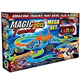 Ontel Magic Tracks Mega RC with 2 Remote Control Turbo Race Cars and 16 ft of Flexible, Bendable Glow in the Dark Racetrack, As Seen on TV