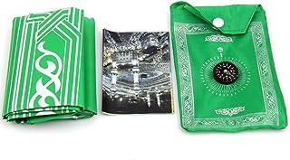 LNIMIKIY - Manta de rezo de Tela Oxford, Impermeable, con Bolsillo, en Bolsa (Verde)