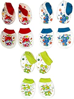 Baby Station Mittens and Booties 3 Pair Set (Color May Vary)