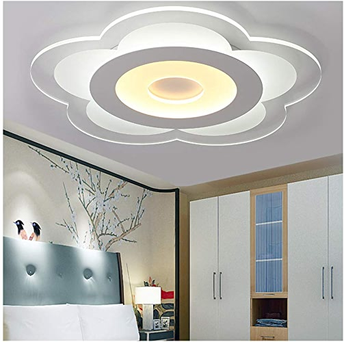 WUYAO Lustre de Plafond Moderne Acrylique Simple LED Plafonnier Salon Chambre Maison Lampe   TriCouleure -T (Taille   20cm)